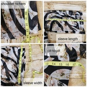 Alberto Makali Tops - Alberto Makali Zebra Print Sheer Coverup